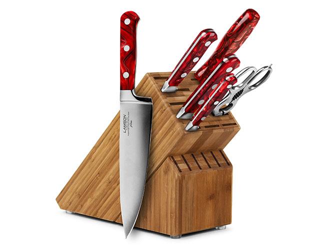 Lamson Fire 7 Piece Bamboo Knife Block Set