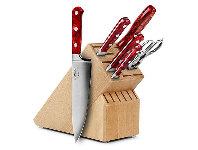Lamson Fire 7 Piece Knife Block Sets
