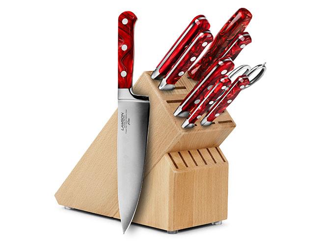 Lamson Fire 10 Piece Beechwood Knife Block Set