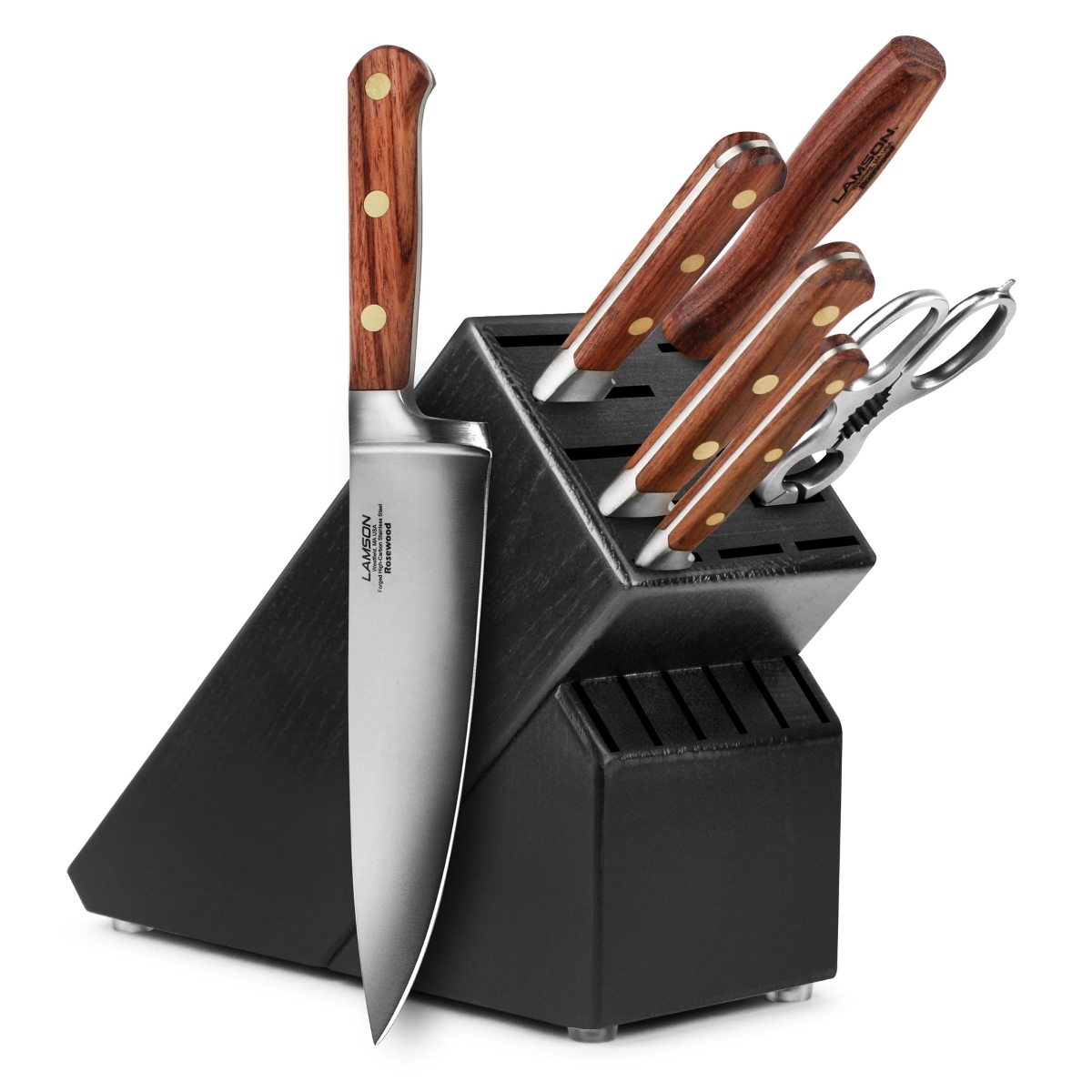 Lamson Rosewood 7 Piece Black Knife Block Set