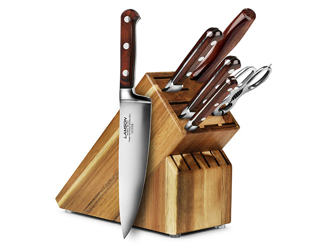 Lamson Silver 7 Piece Acacia Knife Block Set