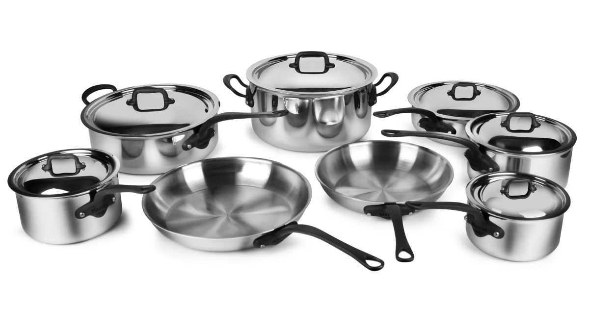 Mauviel M'cook Pro Stainless Steel 14 Piece Cookware Set