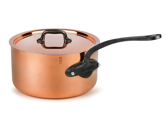 Mauviel M'heritage 250C Copper Saucepan with Lid