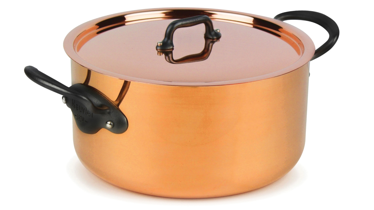 Mauviel M'heritage 250C 9.4-quart 2.5mm Copper Stock Pot
