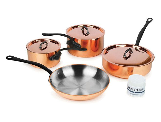 Mauviel M'heritage 250C 7 Piece 2.5mm Copper Cookware Set