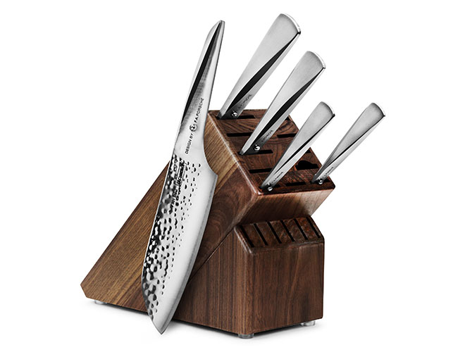 Chroma Type 301 6-piece Hammered Knife Block Sets