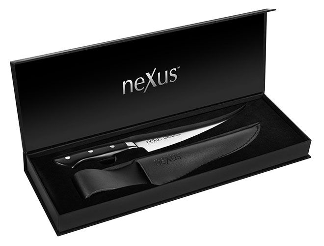 "Nexus 7"" High Carbon Stainless Steel Flexible Fillet Knife with Sheath"