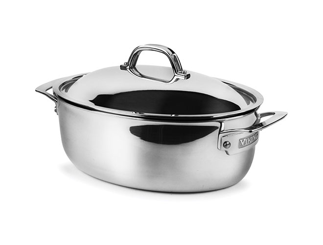Viking 5.5-quart Tri-Ply Stainless Steel Oval Dutch Oven