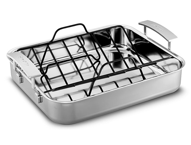 "Demeyere Industry5 15.7x13.3"" Stainless Steel Roasting Pan"