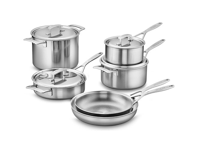 Demeyere Industry5 10 Piece Stainless Steel Cookware Set