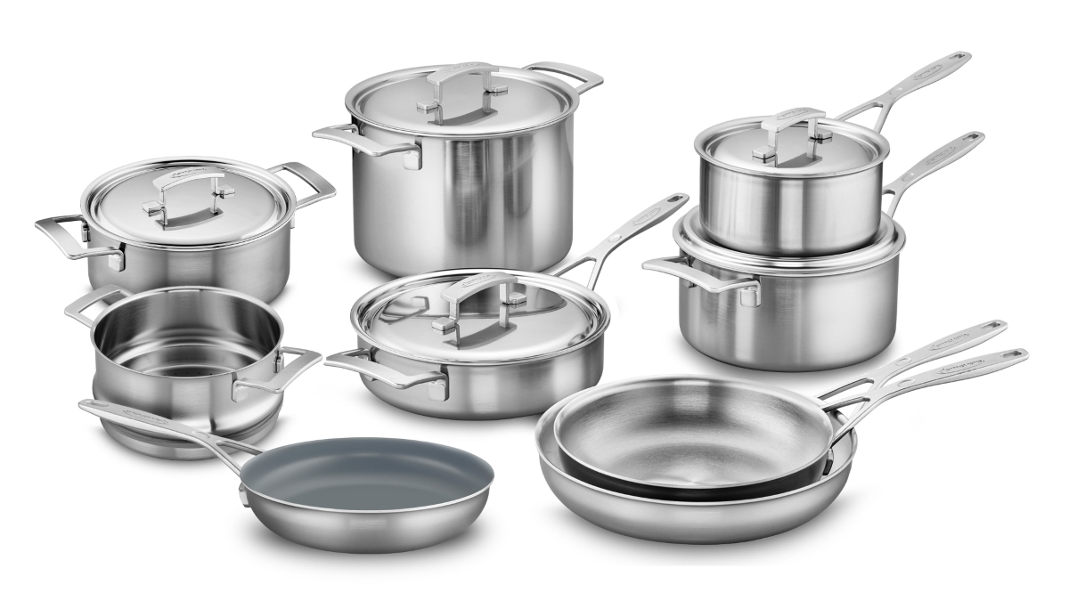 Demeyere Industry5 14 Piece Stainless Steel Cookware Set