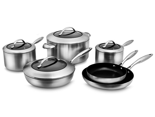 Scanpan CTX Stratanium 10 Piece Stainless Steel Nonstick Cookware Set