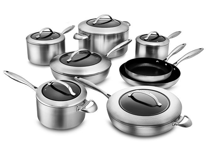 Scanpan CTX Stratanium 14 Piece Stainless Steel Nonstick Cookware Set