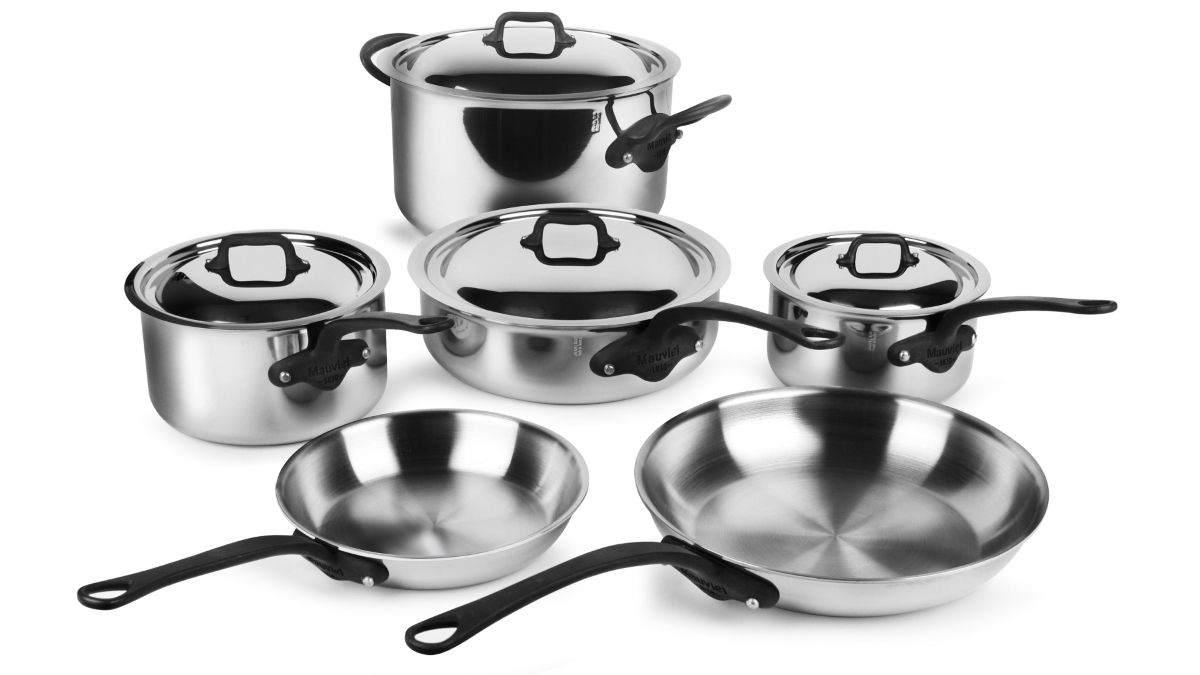 Mauviel M'cook Pro Stainless Steel 10 Piece Cookware Set