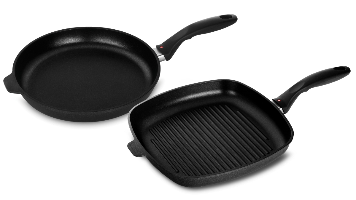 Swiss Diamond XD 2 Piece Nonstick Induction Fry Pan & Grill Pan Set