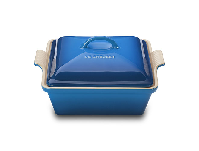 Le Creuset Stoneware 2.5-quart Heritage Covered Square Casseroles