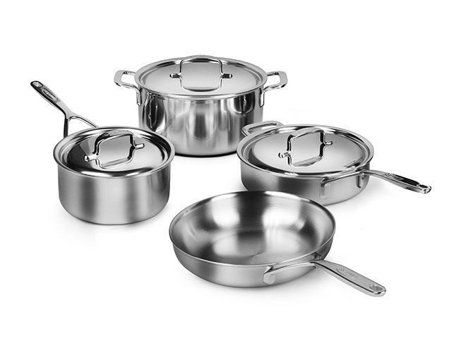 Demeyere 5-Plus 7 Piece Stainless Steel Cookware Set