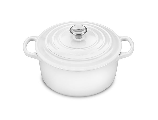 Le Creuset Signature Cast Iron 3.5-quart White Round Dutch Oven