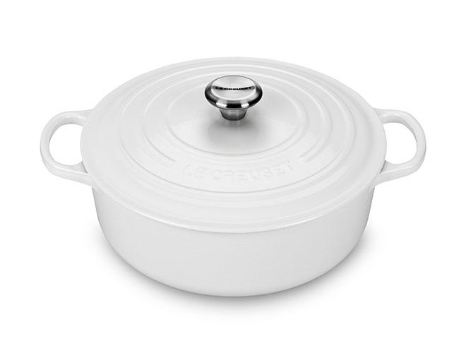 Le Creuset Signature Cast Iron 6.75-quart White Round Wide Dutch Oven