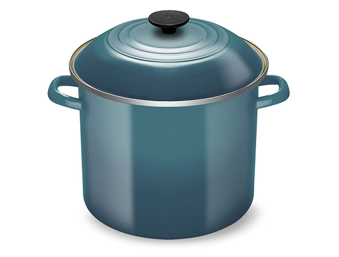 Le Creuset Enameled Steel 10-quart Marine Stock Pot