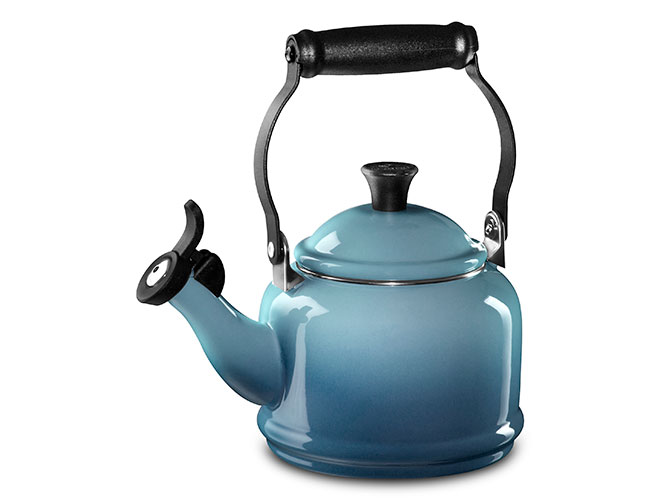 Le Creuset Enameled Steel 1.25-quart Marine Demi Tea Kettle