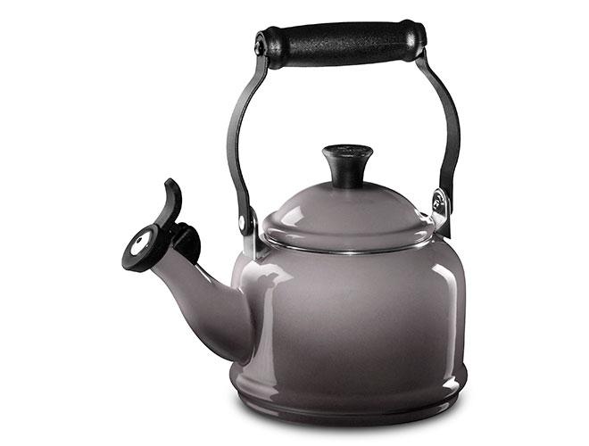 Le Creuset Enameled Steel 1.25-quart Oyster Demi Tea Kettle