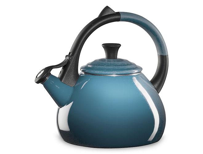 Le Creuset Enameled Steel 1.6-quart Marine Oolong Tea Kettle