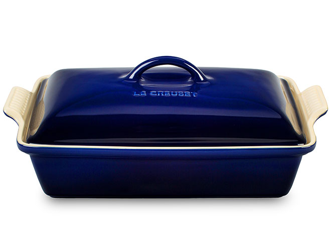 Le Creuset Stoneware 4-quart Indigo Heritage Covered Rectangular Dish