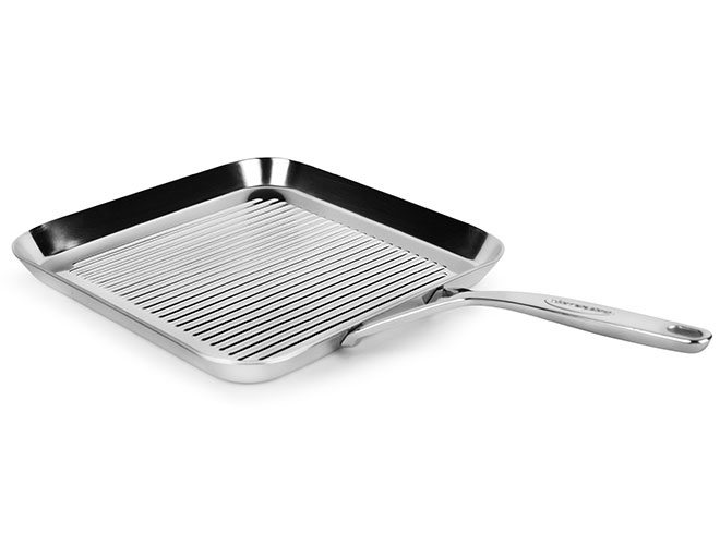"Demeyere 5-Plus 11"" Stainless Steel Grill Pan"
