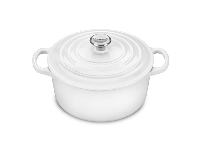 Le Creuset Signature Cast Iron 2.75-quart White Round Dutch Oven