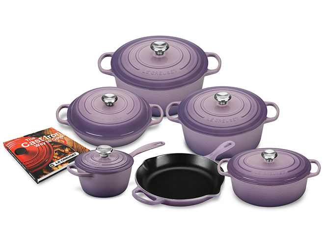 Le Creuset Signature Cast Iron 12 Piece Provence Cookware Set