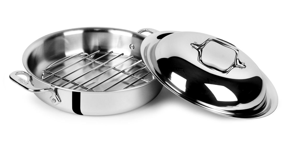 All-Clad d3 Stainless 3-quart Steam & Sear Pan with Rack & Domed Lid