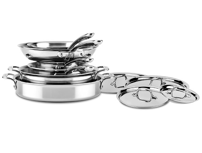 All-Clad d3 Stainless 10 Piece Compact Cookware Set