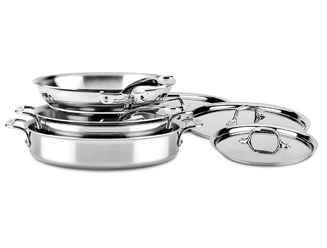 All-Clad d3 Stainless 7 Piece Compact Cookware Set