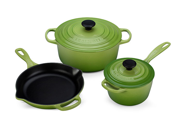 Le Creuset Signature Cast Iron Palm 5-piece Cookware Set