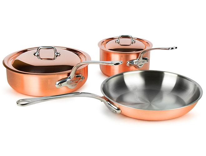 Mauviel M'3s Tri-Ply Copper 5 Piece Cookware Set