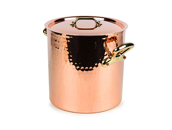 Mauviel M'heritage 250B Hammered Copper Stock Pots