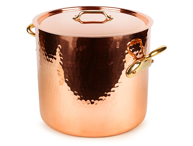 Mauviel M'heritage 250B Tin Lined Hammered Copper Stock Pots