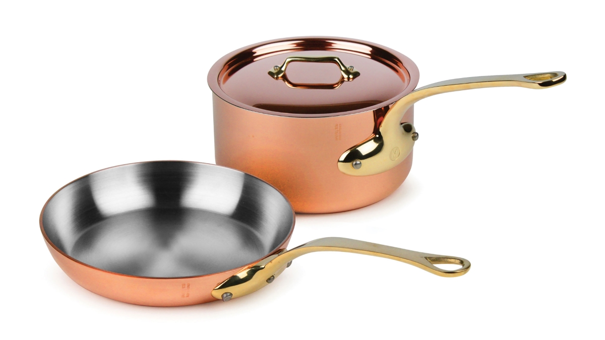 Mauviel M'heritage 250B 3 Piece Copper Cookware Set