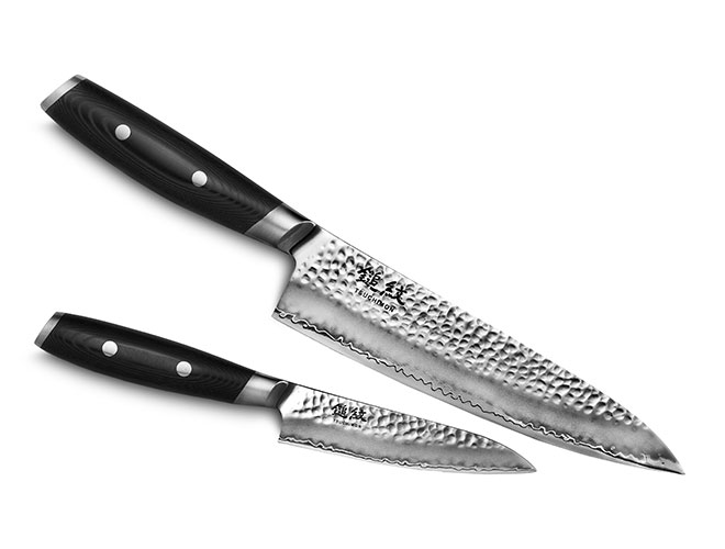 Yaxell Tsuchimon 2 Piece Chef's & Utility Knife Set