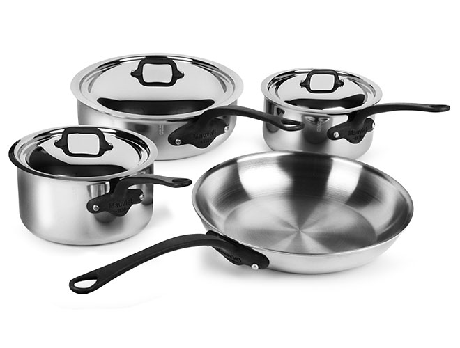 Mauviel M'cook Pro Stainless Steel 7 Piece Cookware Set