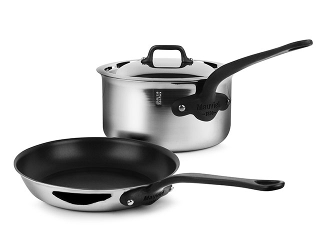 Mauviel M'cook Pro Stainless Steel 3 Piece Cookware Set