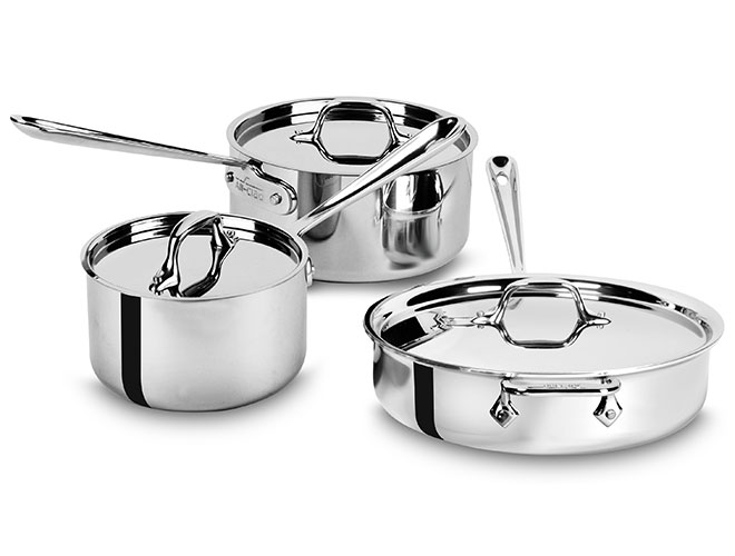 All-Clad d3 Stainless 6 Piece Starter Cookware Set