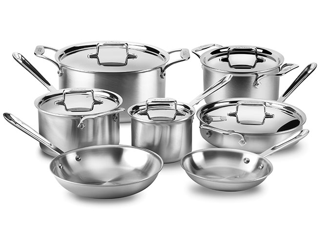 All-Clad d5 Brushed Stainless 12 Piece Cookware Set