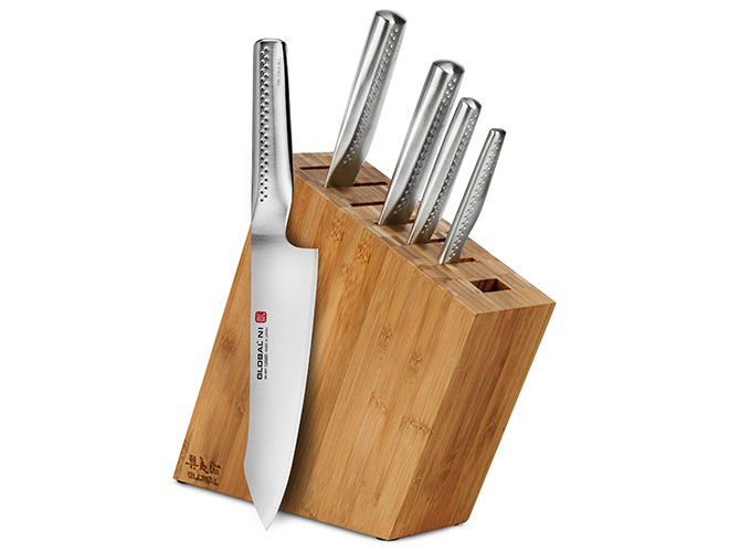 Global Ni 6 Piece Knife Block Set
