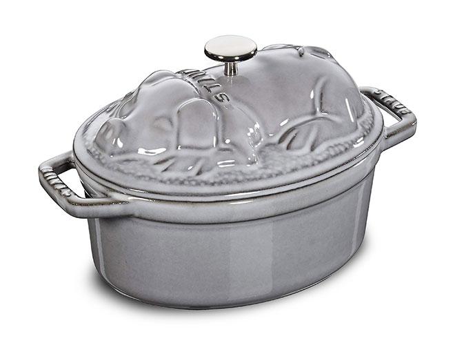 Staub 1-quart Graphite Gray Cast Iron Pig Cocotte