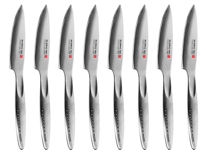 Global Sai 8 Piece Fine Edge Steak Knife Set