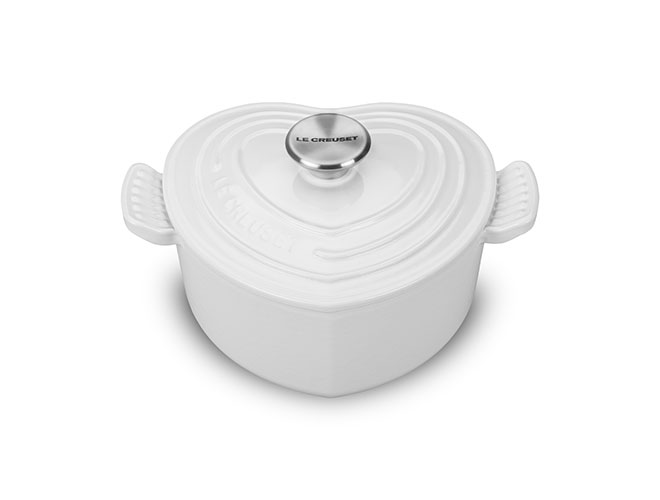 Le Creuset Cast Iron 2-quart White Heart Casserole