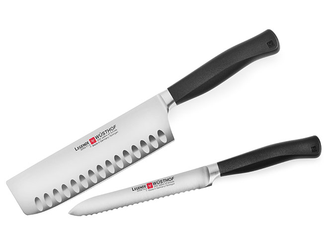 Wusthof Legende 2 Piece Nakiri & Serrated Utility Knife Set