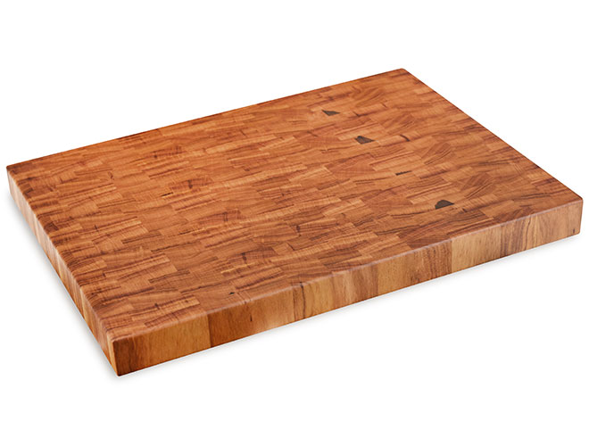 "Cutlery and More 24x18x2"" Tigerwood End Grain Cutting Board"